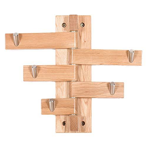 Drehbarer Wandgarderobenständer Aus Massivem Holz
