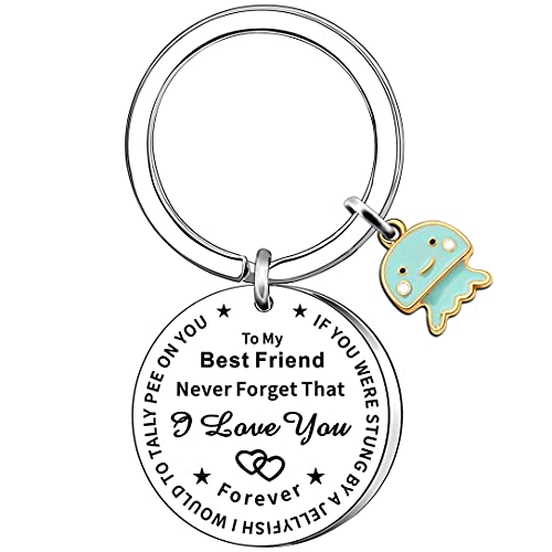 AMZQ Funny Friend Gifts Keyring Friendship Gifts for Friend Bestie Birthday...