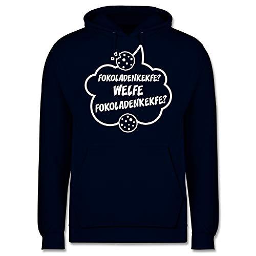 Shirtracer Küche - Fokoladenkekfe Spruch - L - Navy Blau - Keks - JH001 - Herren Hoodie und Kapuzenpullover für Männer