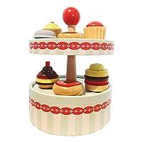 Hellery シミュレーションふりプレイキッチンケーキおもちゃプラシセットパーティーゲームドールハウスの装飾