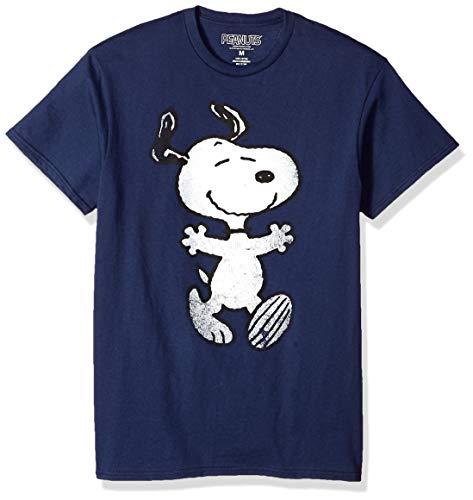 Peanuts Snoopy Hug Adult Navy T-Shirt (XXX-Large)
