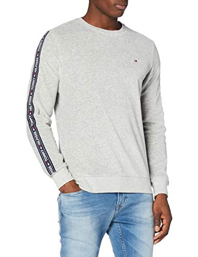 Tommy Hilfiger Herren Track Top Oben, Mid Grey Heather, MD