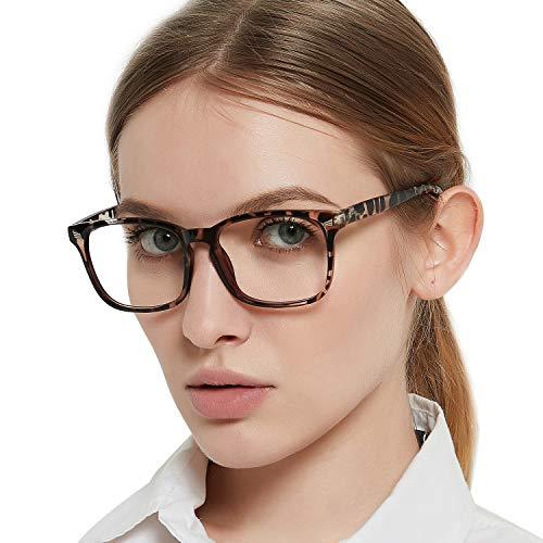 MARE AZZURO Bildschirmbrille für Frauen, Quadrat Nerd Computer Gaming Brille