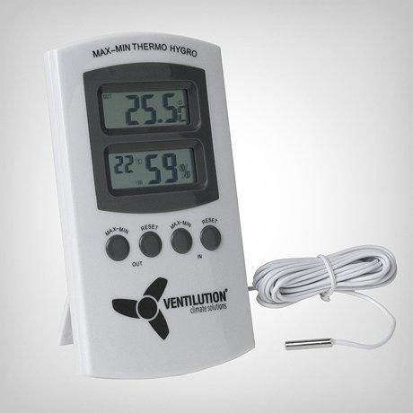 Digitales Hygro-Thermometer mit zwei Messpunkten ideal für Messung im Growroom oder Growbox