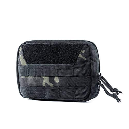 OneTigris Molle EDC - Bolsa para Herramientas tácticas (Nailon), Camo- Advanced Version (Camo Negro - Basic Version)