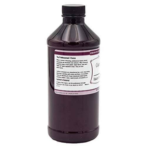 LorAnn Coconut Bakery Emulsion, 16 ounce bottle