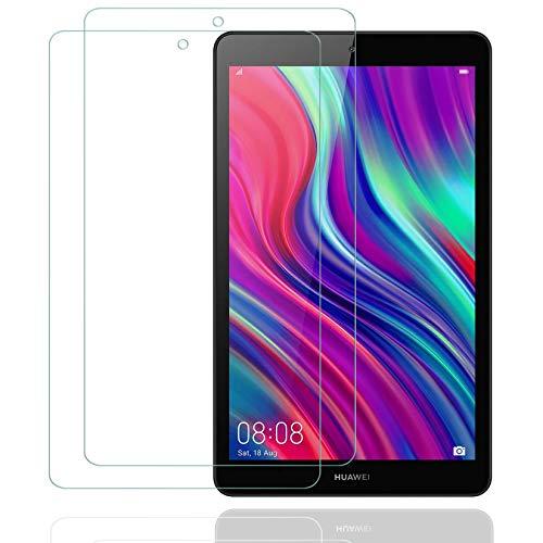 2枚 HUAWEI 8.0インチ MediaPad M5 Lite Touch ガラスフィルム/Huawei Honor Tab 5 8.0 ガラスフィルム 新型 8.0インチ タブレット用フィルムWi-Fiモデル/LTEモデル適用ガラスフィルム ファーウェイ M5 lite 8 強化フィルム 旭硝子製 耐指紋 視力保護 貼り付け簡単