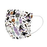 CSQQ 50 Pezzi Natale Halloween Cotone Lavabili Riutilizzabili Moda Unisex-3D Stampa Tie-Dye-Visiera Viso Comodi Antipolvere Antivento Anti-Smog Filtranti Per Salute Aperto Sportivo,Uso Quotidiano