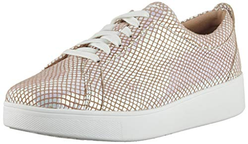 Fitflop Damen Rally Exotic Sneakers Sneaker, Weiß (Bright White Mix), 38 EU