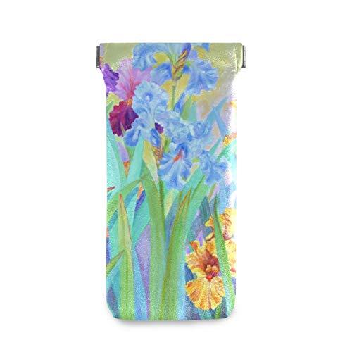 XiangHeFu brilhouder multiuse kleurrijke bloemenschilderij reis zonnebril geval brillenkoker draagbaar