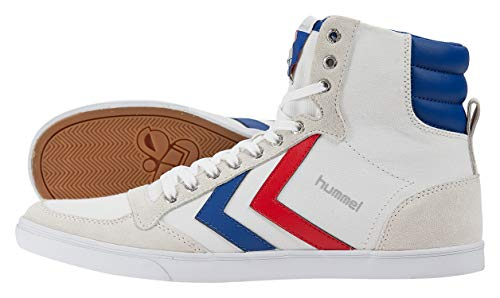 Hummel Herren Hummel Slimmer Stadil High-Top, Weiß (White/Blue/Red/Gum), 41 EU