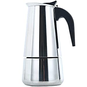 ZFFSC Hervidor de Agua for café y té de 6 Copas 300ML del Acero Inoxidable de Moka quemadores Cafetera exprés con válvula de Seguridad percolador Cafetera Pot Mano Cafetera Hervidor