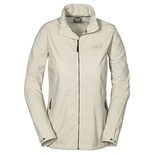 Jack Wolfskin Women's Amber Road 2 Jacket, White Sand, X-Large