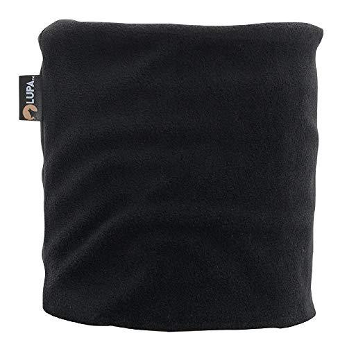 LUPA Kids Canadian Handmade Double-Layer Fleece Neck Warmer (Black, Small (2-6))
