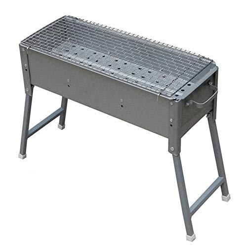 LJYMM - Juego de herramientas plegables de barbacoa de acero inoxidable de carbón de madera, portátil, para camping, picnic, al aire libre, jardín