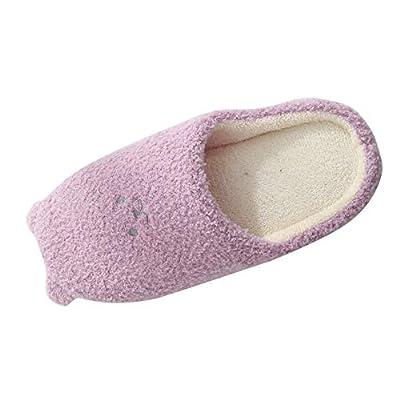 Women's Slip on Fuzzy Slipper Anti-Skid Hou...