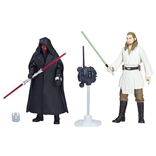 Star Wars E1687Figur Darth Maul und quigon Jinn 10cm