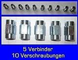 10x unión 5x Conector para freno cable 4,75mm de reborde F Profesional de...