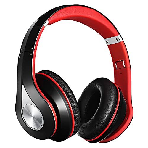 65Hrs Cuffie Wireless,Headset Over Ear, Cuffie Stereo Hi-Fi Wireless 5.0 con Microfono CVC6.0 Integrato,Ricarica Rapida, Pieghevole, per PC,Corso Online,Ufficio,a Casa,Nero