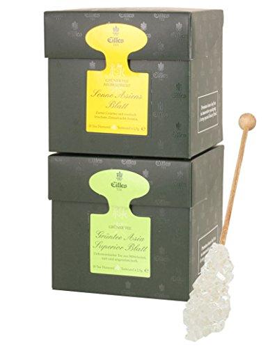 EILLES Asiatischer Sommer Tea Diamonds 2er Set mit Grüntee und Gourvita Moments Kandisstick