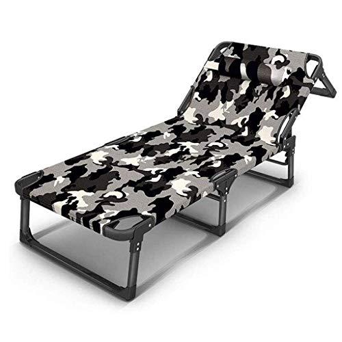 AABBC Reclining Folding Sun Garden Outdoor Patio Guest Bed Lounger Recliner Seat Chair (Color : A)