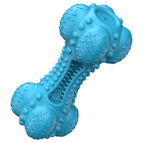 Hunde Kauspielzeug für Aggressive Kautiere Große Rasse, Quietschend Hundspielzeug Unzerstörbar Gummiknochen Hund Spielzeug für die Reinigung von Zähnen mit Großen Mittleren Hunde