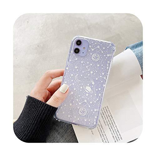 Funda transparente para iPhone 11 Pro Max XR X XS Max 7 8 Plus suave TPU cubierta trasera T2-para iPhone 8 Plus