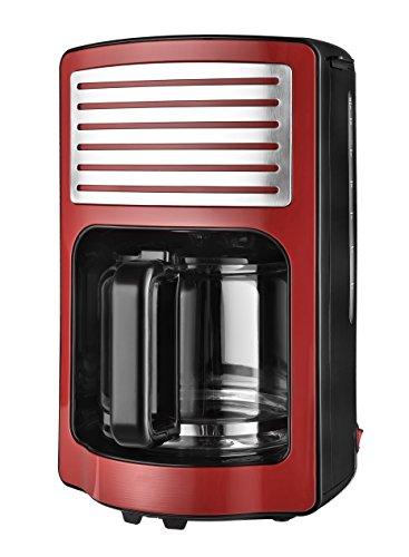 Team Kalorik Cafetera de filtro con capacidad de 1,8 L, Jarra de vidrio, Hasta 15 tazas, 1000 W, Rojo, TKG CM 2500 R