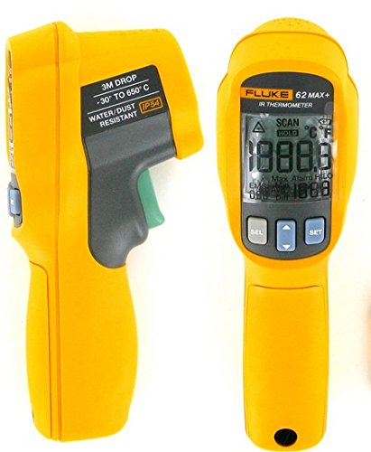 FLUKE FLUKE-62 MAX+ INFRARED THERMOMETER, -30C to +650C / -22F to +1202F