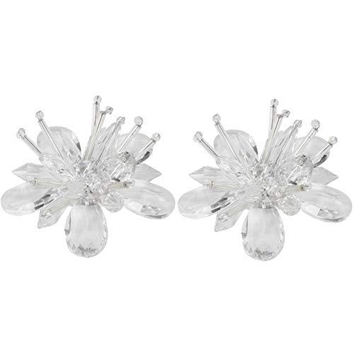 Clips de zapatos de cristal con apliques de diamantes de imitación de colores brillantes, ropa hecha a mano, sombreros,(White flower diamond flower 7cm)