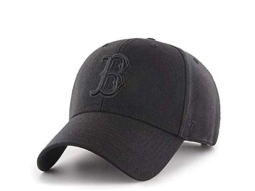 47Brand MVP Adjustable Cap Boston RED SOX B-MVPSP02WBP-BKB Schwarz Schwarz, Size:ONE Size