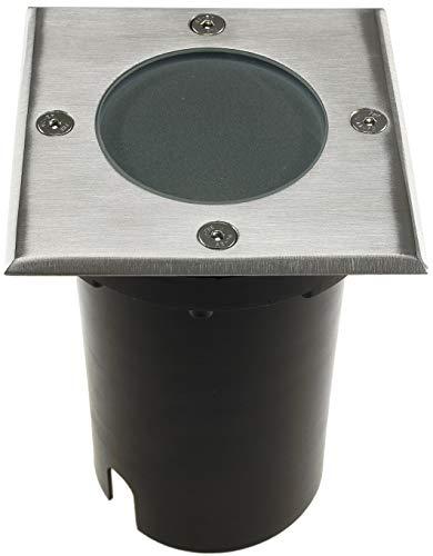 ChiliTec Bodeneinbaustrahler Bodenleuchte Aussen IP65 Eckig Wasserdicht trittfest befahrbar 230V GU10 Fassung I 2 Anschlüsse Eingang & Ausgang