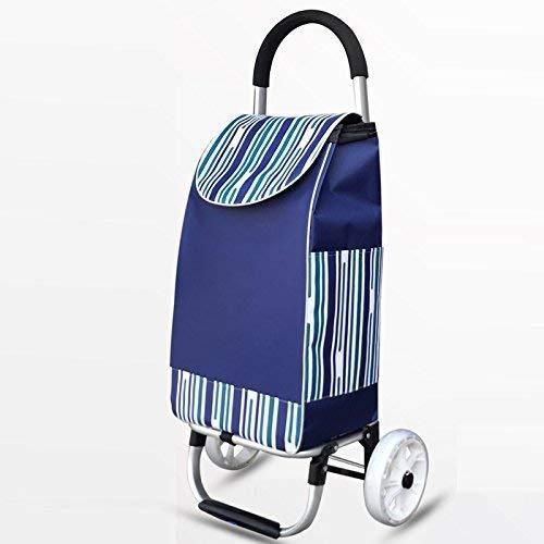 Pkfinrd Construcción ligera con 2 ruedas, gran capacidad, plegable, de aluminio, autocaravana, impermeable, color azul