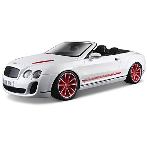 BECCYYLY Diecast Model Car 1:18 para Bentley para el Modelo de Auto Retro de la aleación de ISR para el Modelo Classic Car Diecast Vehicle Car Collection Regalo (Color: Negro) wmpa ( Color : White )