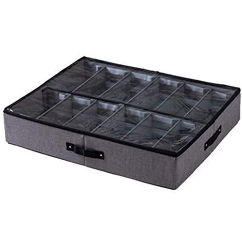 tellaLuna Caja de Zapatos Transparente Organizador de Cajones para Guardar Zapatos Caja Plegable para Zapatos Debajo de la Cama Caja de Almacenamiento Plegable