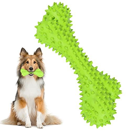 Foairs Kauspielzeug für Hunde, Hundezahnbürste, Kaustangen Zahnbürsten für Hunde robuster Naturkautschuk und Zahnreinigung, Kauknochen für Große / Mittelgroße / Kleine Hunde
