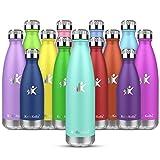 KollyKolla Botella de Agua Acero Inoxidable, Termo Sin BPA Ecológica, Botellas Termica Reutilizable Frascos Térmicos para Niños & Adultos, Deporte, Oficina, Yoga, Ciclismo, (750ml Macaron Verde)