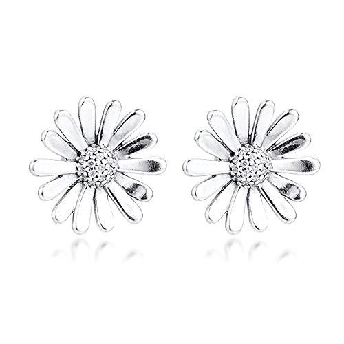 BAKCCI Pendiente de tuerca para mujer de plata 925, ideal para pulseras de Pandora originales