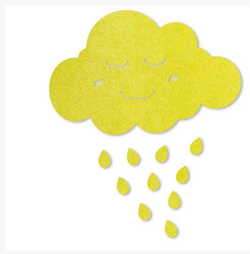 Fotobehang Thema Cloud Citroen Geel Vilt Bord Boodschap Kurk Board Thema Muur Thuis Muursticker Notitiebord Kinderkamer Decoratie Photo Muur Aangepaste Creatieve Persoonlijkheid Droom Board 120 * 78cm