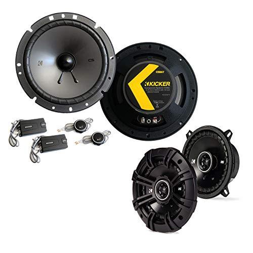 Kicker Front/Heck 16,5cm/10cm Auto Lautsprecher/Boxen/Speaker Komplett-Set kompatibel für FIAT