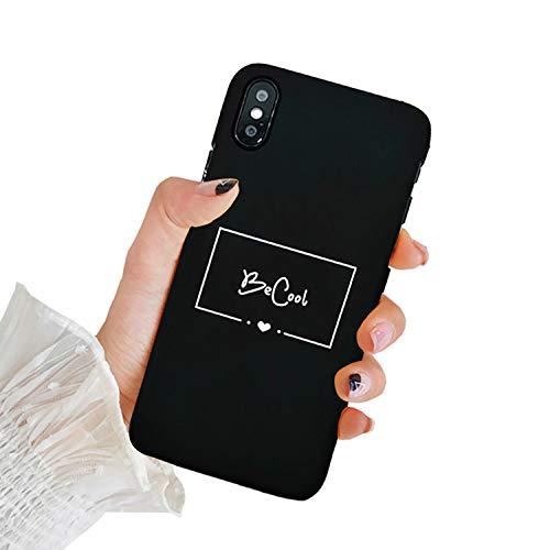 Tybaker Coque iPhone XS Max XR Case Ultra Mince Silicone Souple Housse Créatif Modèle Symbole Cover Antichoc Anti Rayure Premium Protection Bumper Étui pour iPhone X XS Max (F Becool, iPhone XS Max)