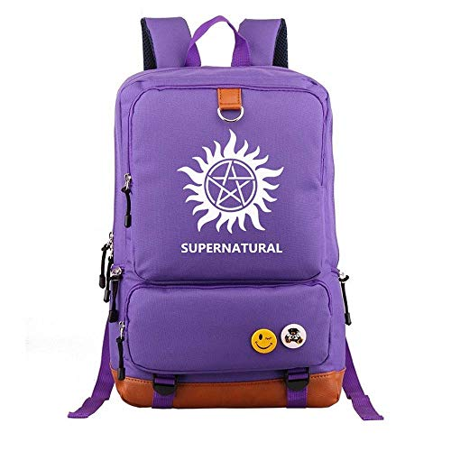 Supernatural Rucksack Demon Hunter Winchester Bros Sam Dean Rucksack Schultasche Kinder Schultaschen für Jugendliche Rucksäcke (4)