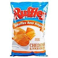 フリル チェダー チーズ ・ サワー クリーム (パックの 3) ruffles cheddar & sour cream (pack of 3)