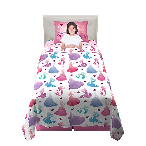 Franco Kids Bedding Super Soft Sheet Set, 3 Piece Twin Size, Disney Princess