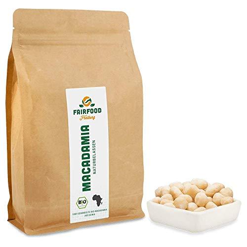 Bio Fairtrade Macadamia: Naturbelassen (500g)   Macadamias aus Kenia   Natürlich Qualität und fair gehandelt