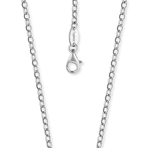 Engelsrufer Damen Ankerkette 925er-Sterlingsilber rhodiniert Länge 80 cm