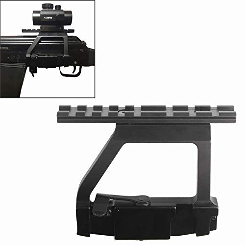 Kingwolfox Scope Side Mount Tactical Heavy Duty Base for 20mm Weaver Scope