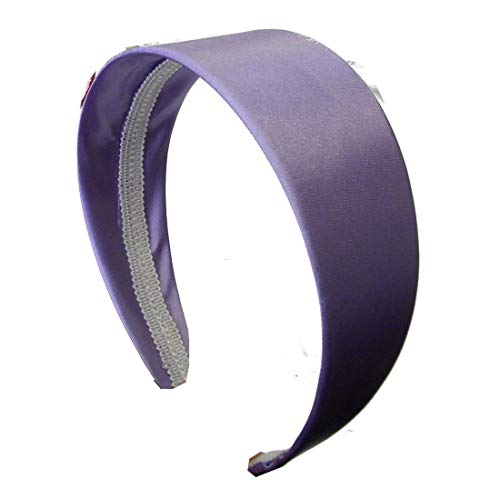 New Wide Hard Headbands Vibrant Colorful Girls 2 Inch Hair Band Accessories No Teeth (Lavender)