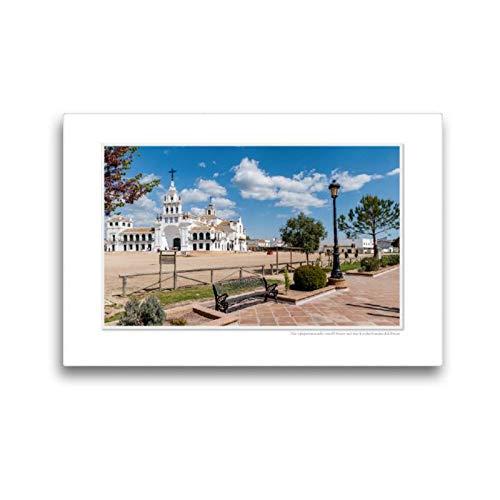 CALVENDO Lienzo de Tela Premium 45 cm x 30 cm Horizontal, un Motivo del Calendario Emocional: El Rocio - España, Famoso Lugar de la Cartera. Lienzo con impresión en Lienzo Glaube Glaube