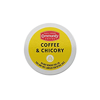 Community Coffee Coffee & Chicory Single Serve K-Cup Compatible Coffee Pods Box of 18 Pods